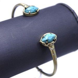 Kendra Scott Gold Tone Blue Crystal Cuff